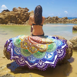 Serviette de plage ronde (couleurs disponible)