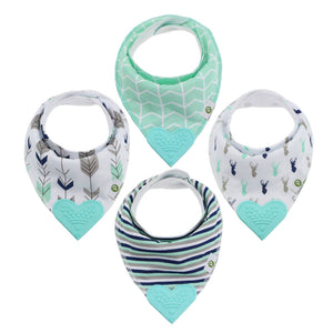 Blue Deer Bandana Teething Bibs (4 Pack)