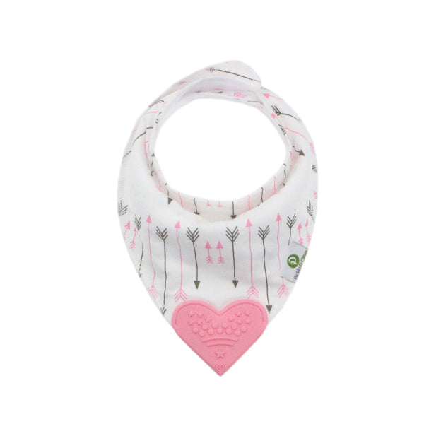 Pink Bandana Teething Bibs (4 Pack)
