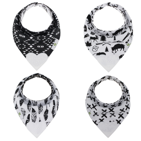 Reversible Teething Bibs in Monochrome (2 Pack)