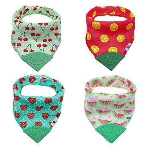 Fruity Bandana Teething Bibs (4 Pack)