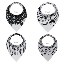 Reversible Teething Bibs in Monochrome (Set of 2)
