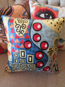 Hand Embroidered Klimt inspired Pillow Shams