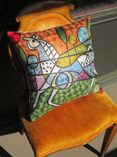 Hand Embroidered Picasso inspired Horse Pillow Shams