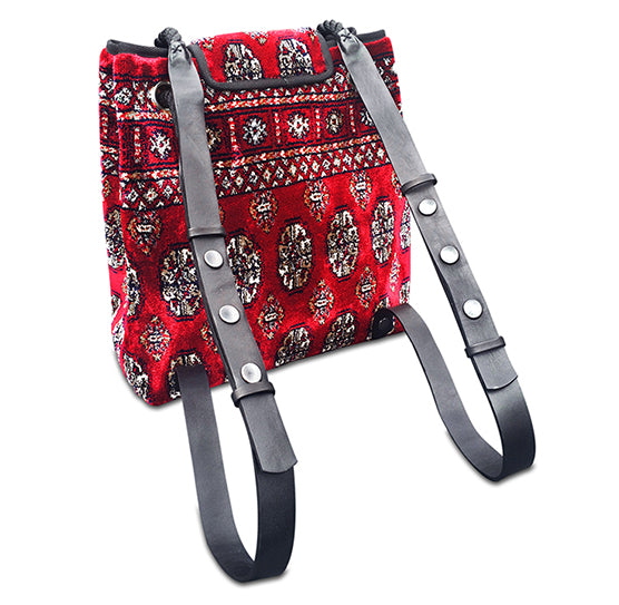 Knotty Backpack, Persian Red, Genuine Carpet Bag