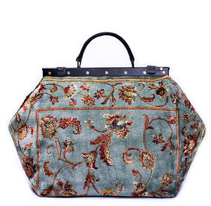 """Blue Ridge"" Handmade Genuine Carpet Bag"