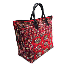 Knotty Voyager, Persian Red, Genuine Carpet Bag