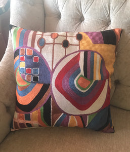 Hand Embroidered  abstract Pop Art