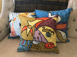 Hand Embroidered Kandinsky inspired Pillow Sham