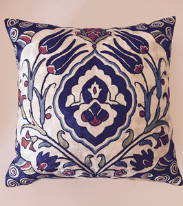 "Silk Hand Embroidered Suzani Pillow Shams 18"" X 18"""