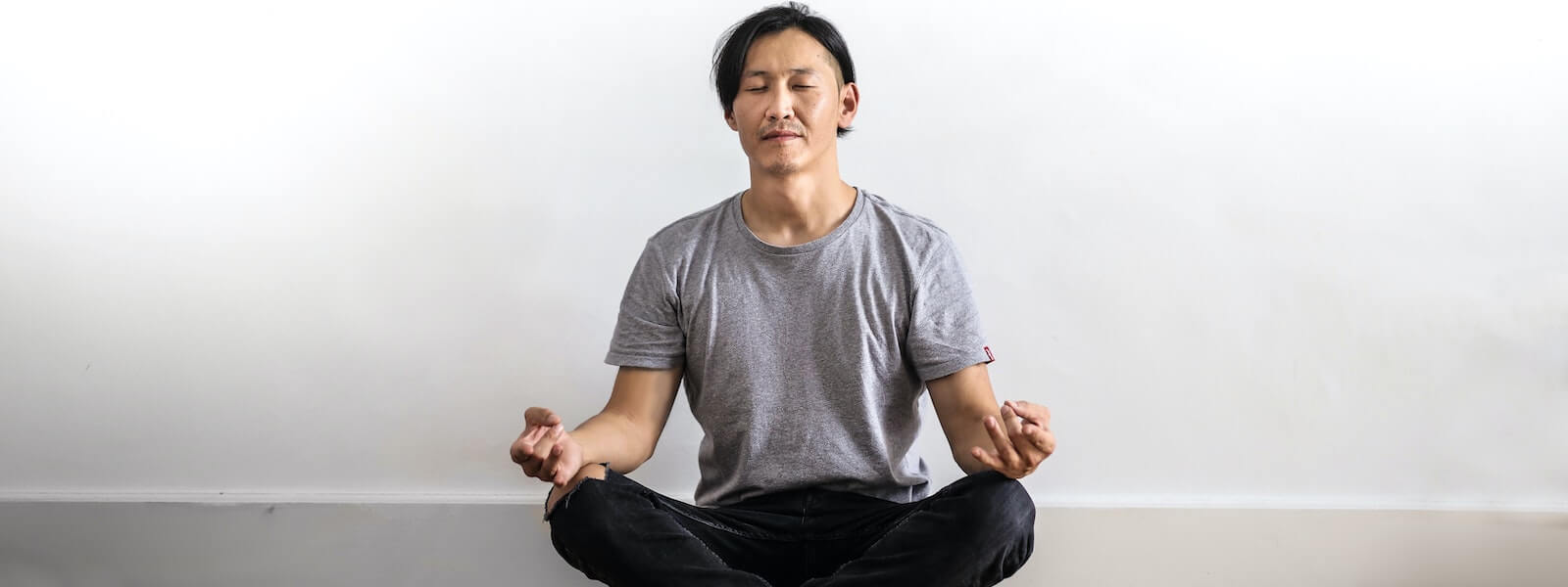 Man incorporating mindfulness into his routine.