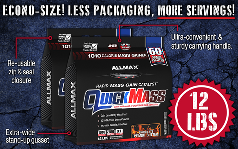 Quick Mass by Allmax Weight Mass Gainer at Supplement Superstore