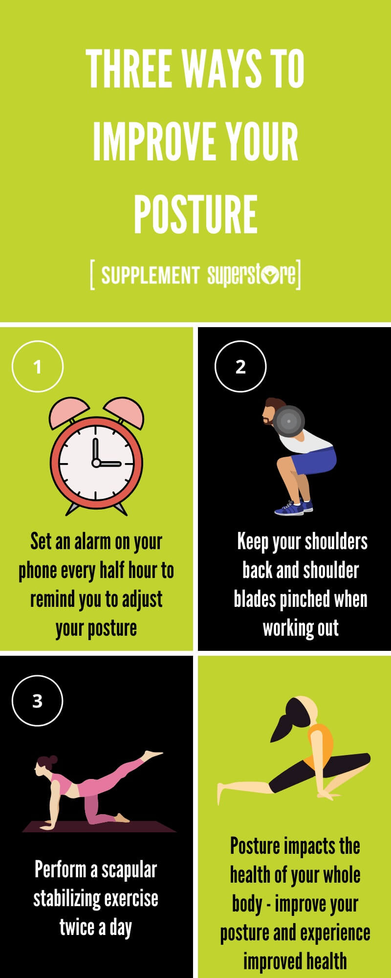 3 Tips To Help Improve Your Posture Infographic