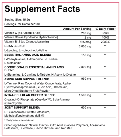 5% Nutrition All Day You May BCAA Recovery Nutrition Facts Supplements Canada