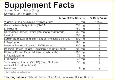 5% Nutrition Knocked The F-ck Out Nutrition Facts at Supplement Superstore Canada