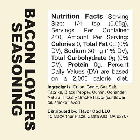 Bacon Lovers Flavor God by Flavour God Functional Food Seasoning at Supplement Superstore