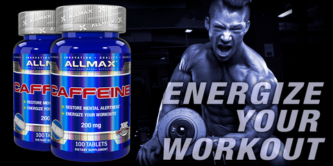 Caffeine Tablets by Allmax Raw Ingredients at Supplement Superstore