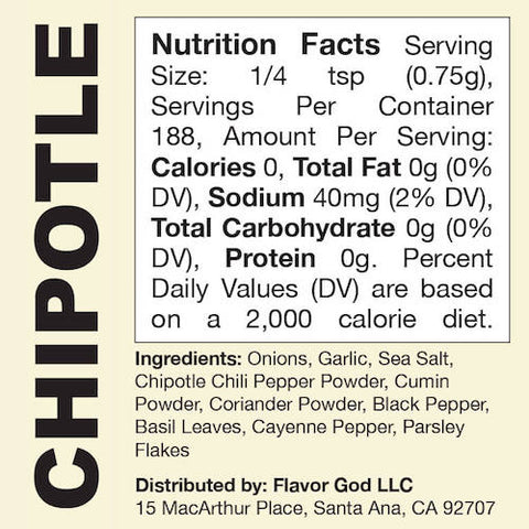 Chipotle Flavor God by Flavour God Functional Food Seasoning at Supplement Superstore Canada