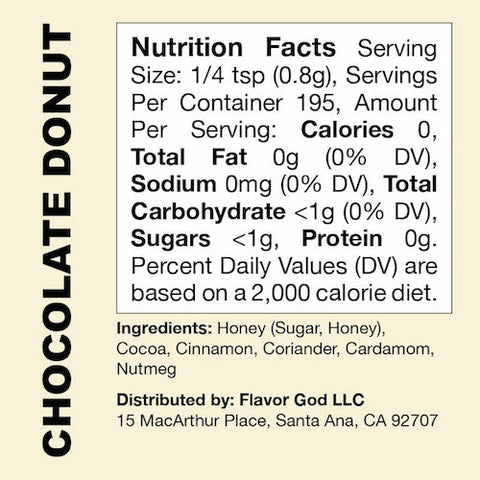 Chocolate Donut Flavor God by Flavour God Functional Food Seasoning at Supplement Superstore Canada