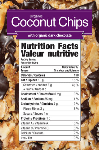 Coconut Chips with Dark Chocolate by Prairie Naturals Functional Food at Supplement Superstore