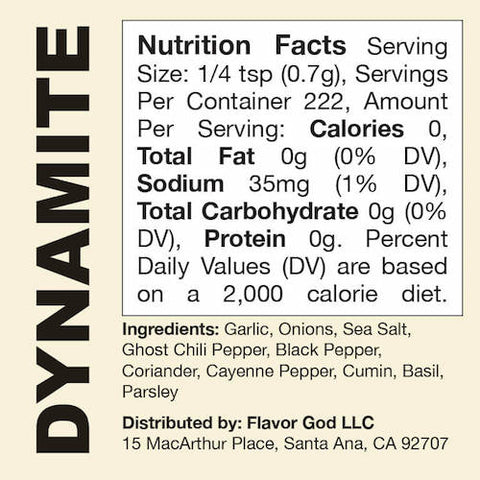 Dynamite Flavor God by Flavour God Functional Food Seasoning at Supplement Superstore Canada
