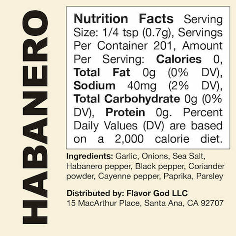 Habanero Flavor God by Flavour God Functional Food Seasoning at Supplement Superstore