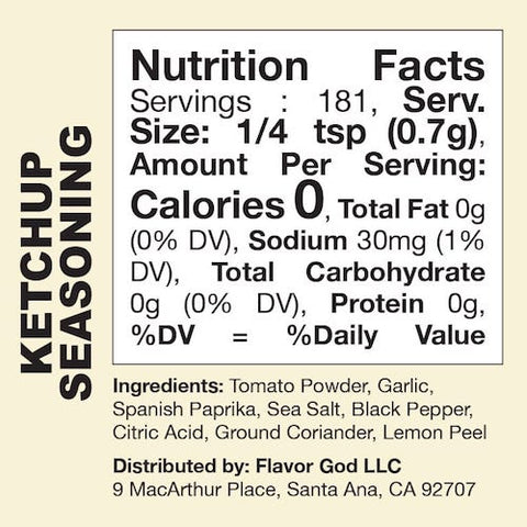 Ketchup Flavor God by Flavour God Functional Food Seasoning at Supplement Superstore Canada