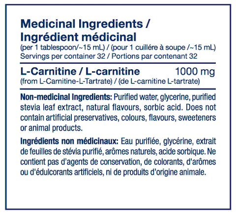 Liquid L Carnitine by PVL Raw Ingredients Carnitine at Supplement Superstore Canada