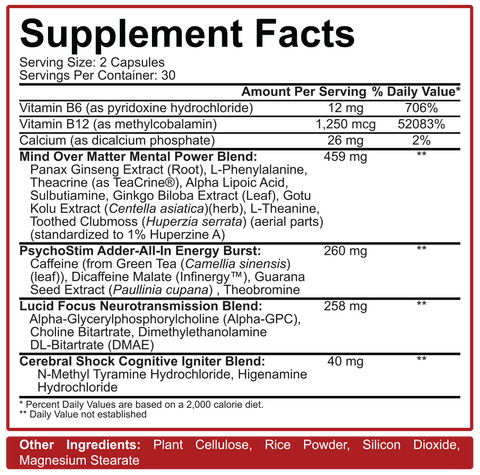 5% Nutrition Mentality Nootropic Focus Agent at Supplement Superstore Canada