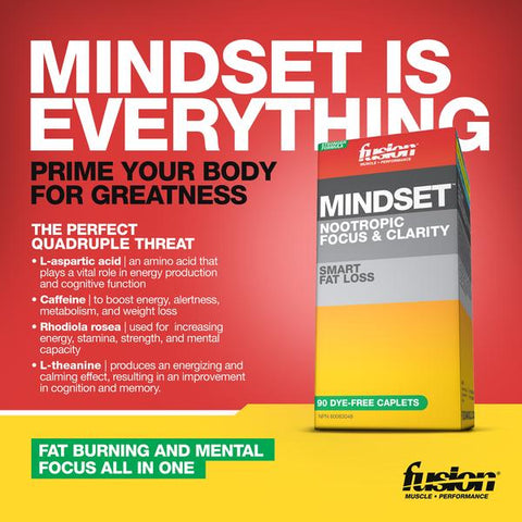 Mindset by Fusion Bodybuilding Fat Burner Energy Focus Nootropic at Supplement Superstore Canada