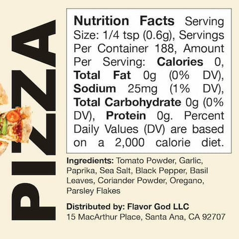 Pizza Flavor God by Flavour God Functional Food Seasoning at Supplement Superstore Canada