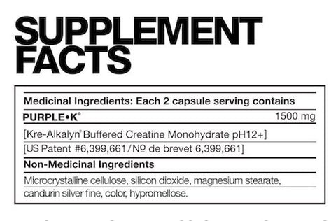 Purple K by Fusion Bodybuilding Muscle Kre Alkalyn PH Buffered Creatine at Supplement Superstore