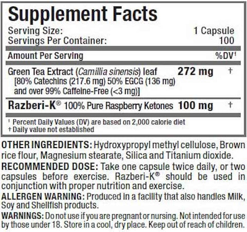 Raspberry Ketones by Kleissinger Labs Weight Loss Support at Supplement Superstore