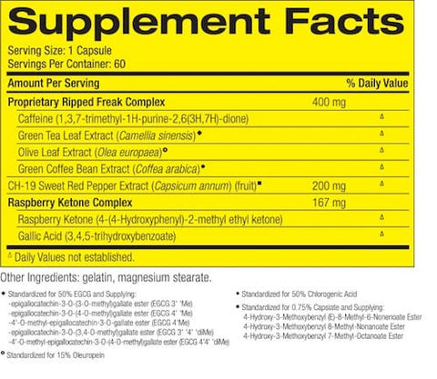 Ripped Freak by PharmaFreak Weight Loss Support Fat Burner at Supplement Superstore Canada