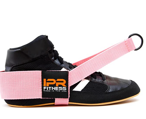 Cable machine ankle strap for use in the gym