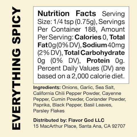 Everything Spicy Flavor God by Flavour God Functional Food Seasoning at Supplement Superstore Canada