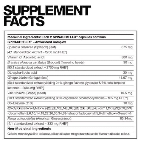 Spinach Flex by Fusion Bodybuilding Foundation Vegetable Greens at Supplement Superstore