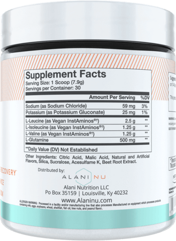 Alani Nu BCAA Nutrition Facts at Supplement Superstore Canada