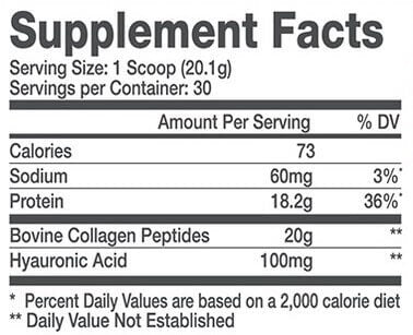 Alani Nu Collagen Nutrition Facts at Supplement Superstore Canada