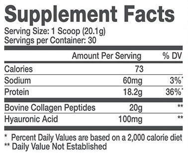 Alani Nu Collagen Supplement Facts