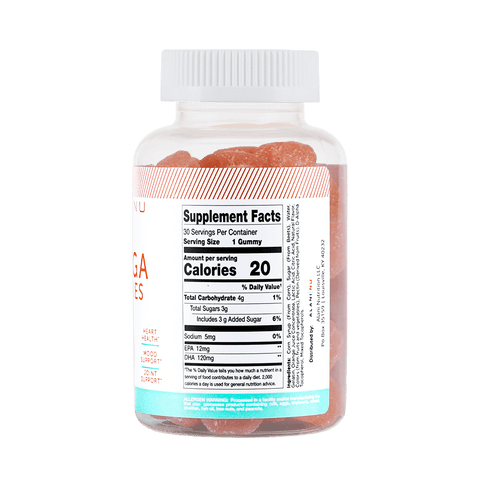 Alani Nu Omega Gummies Nutrition Facts at Supplement Superstore Canada