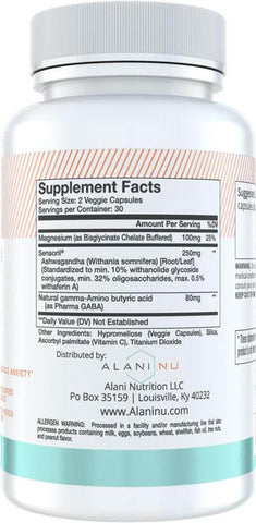 Alani Nu Stress Nutrition Facts at Supplement Superstore Canada