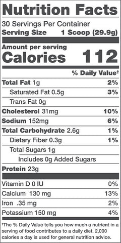 Alani Nu Whey Protein Nutrition Facts at Supplement Superstore Canada