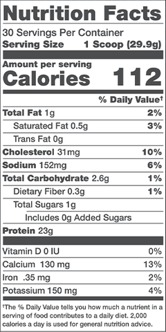 Alani Nu Whey Protein Nutrition Facts