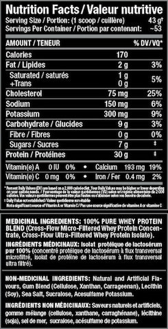 Allmax AllWhey Classic Nutrition Facts at Supplement Superstore Canada