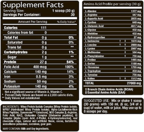 Allmax Isoflex Chiller Nutrition Facts at Supplement Superstore Canada