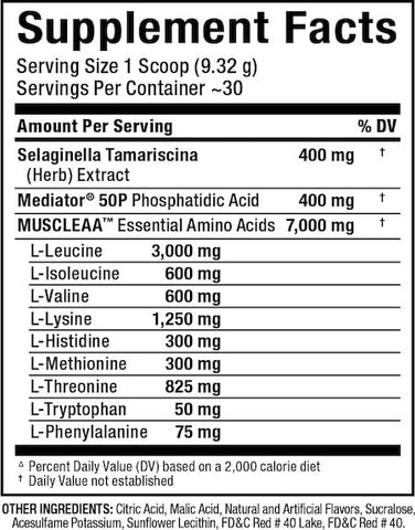 Allmax MusclEAA Nutrition Facts at Supplement Superstore Canada