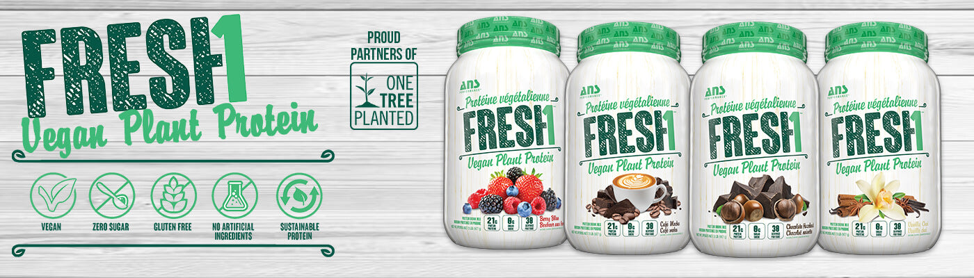 ANS Performance Fresh1 Plant Based Vegan Protein Supplements Canada