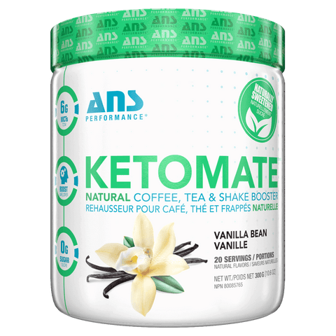 ANS Performance KetoMate Natural Coffee Tea and Shake Booster Keto Diet Friendly Supplements Canada
