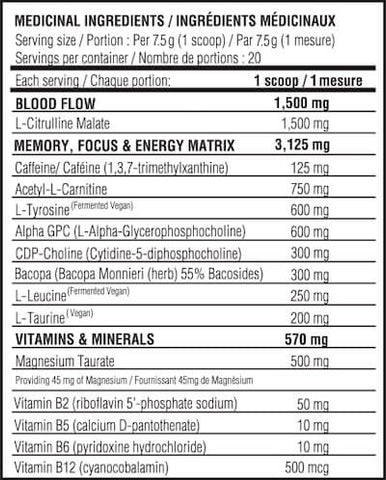 Believe Supplements Brain Fuel Nutrition Facts at Supplement Superstore Canada
